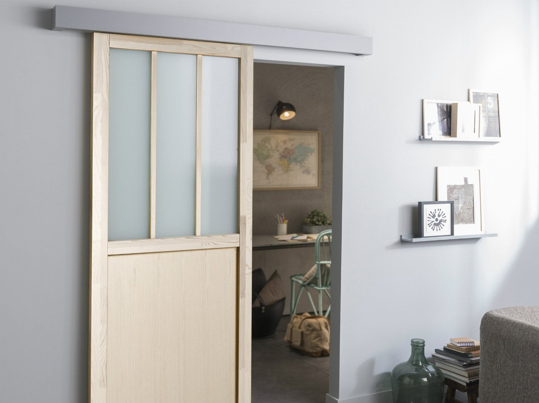Remplacer Une Porte Par Du Placo poser une porte coulissante   leroy merlin