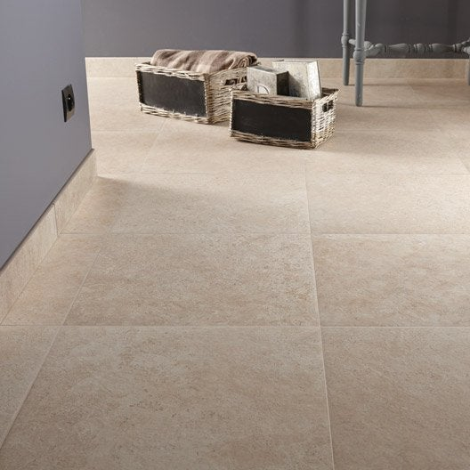 carrelage sol et mur beige effet pierre tivoli x cm leroy merlin. Black Bedroom Furniture Sets. Home Design Ideas