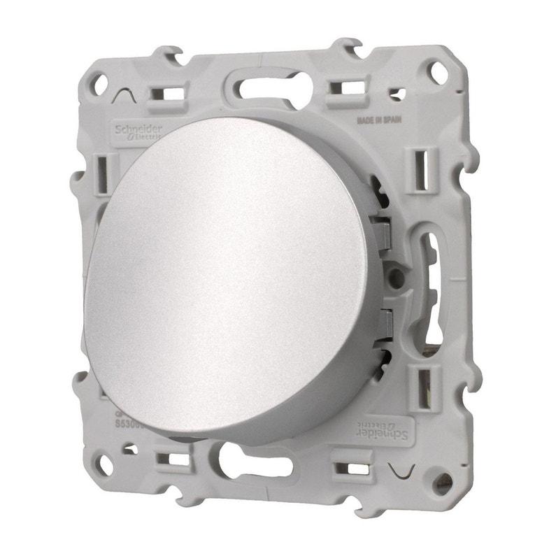 Sortie De Câble Odace Schneider Electric Gris Aluminium