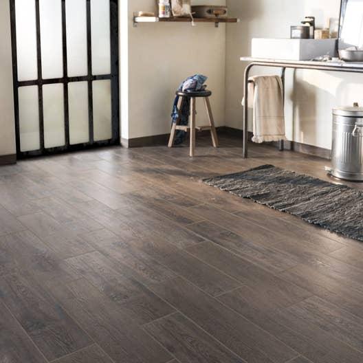 carrelage sol et mur brun clair effet bois volga x cm leroy merlin. Black Bedroom Furniture Sets. Home Design Ideas