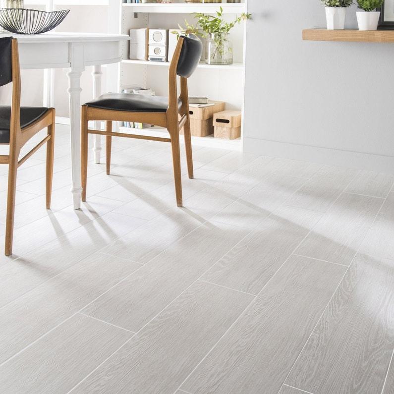 Carrelage Sol Et Mur Blanc Calcaire 1 Effet Bois Avoriaz L 20 2 X L