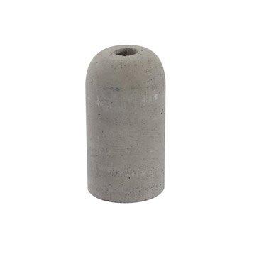 Douille électrique à vis E27 béton, gris