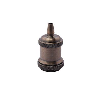 Douille électrique à vis E27 acier laitonné, cuivre
