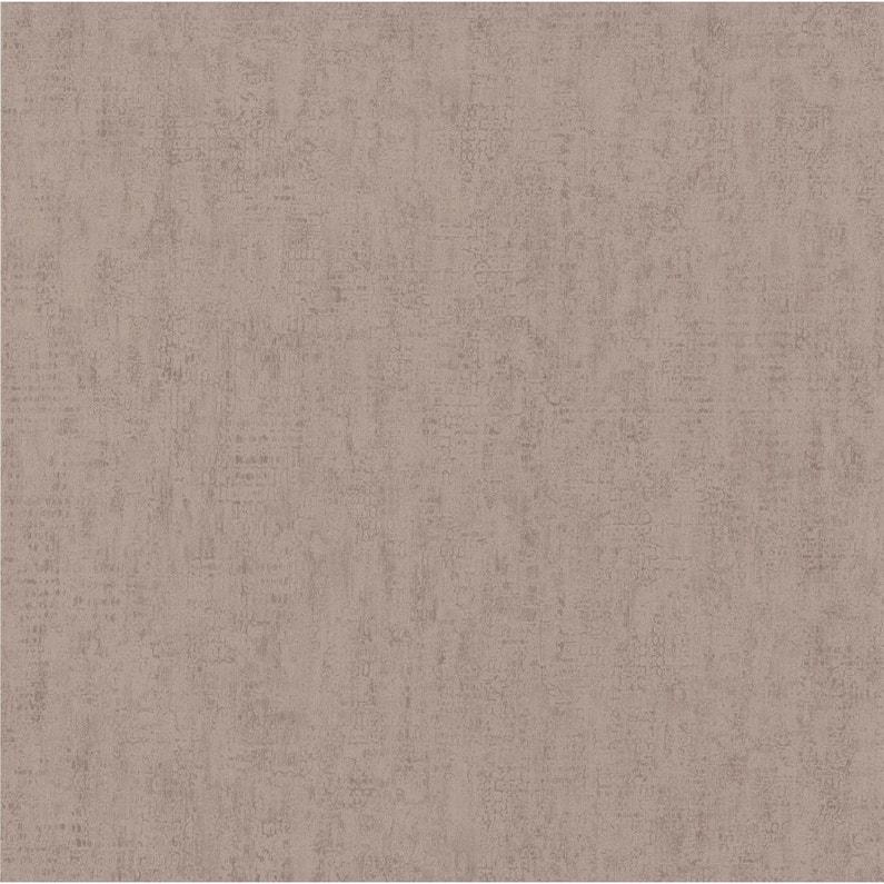 Papier Peint Vinyle Craquele Paillete Marron Leroy Merlin