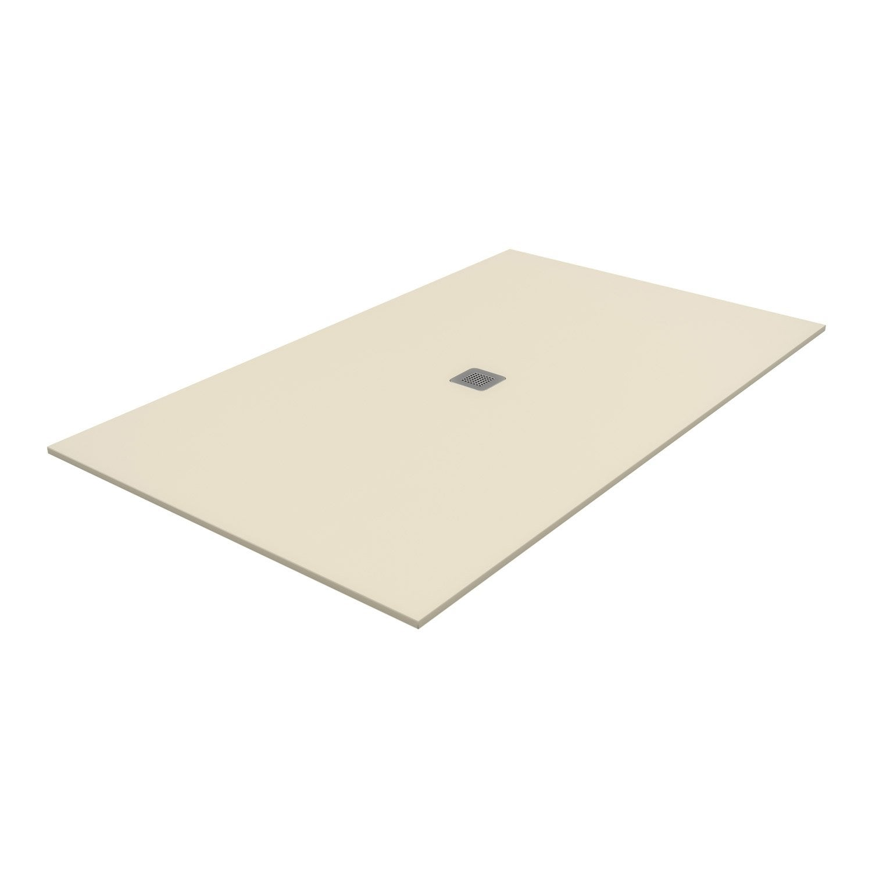 Receveur de douche rectangulaire x cm pierre beige kioto2 leroy merlin - Receveur de douche 160 x 80 ...