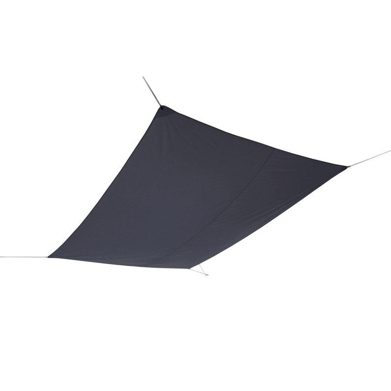 Voile d\'ombrage rectangulaire gris paris L.400 x l.300 cm | Leroy Merlin