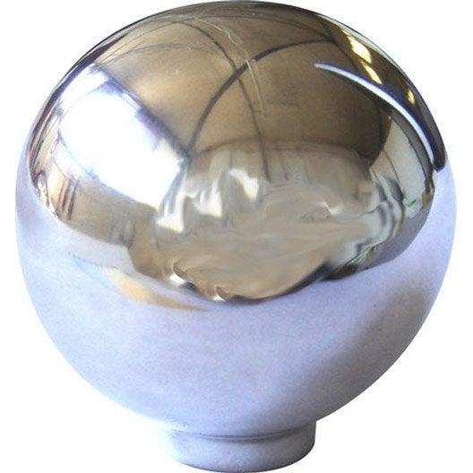 Bouton De Meuble Boule Aluminium Poli Leroy Merlin
