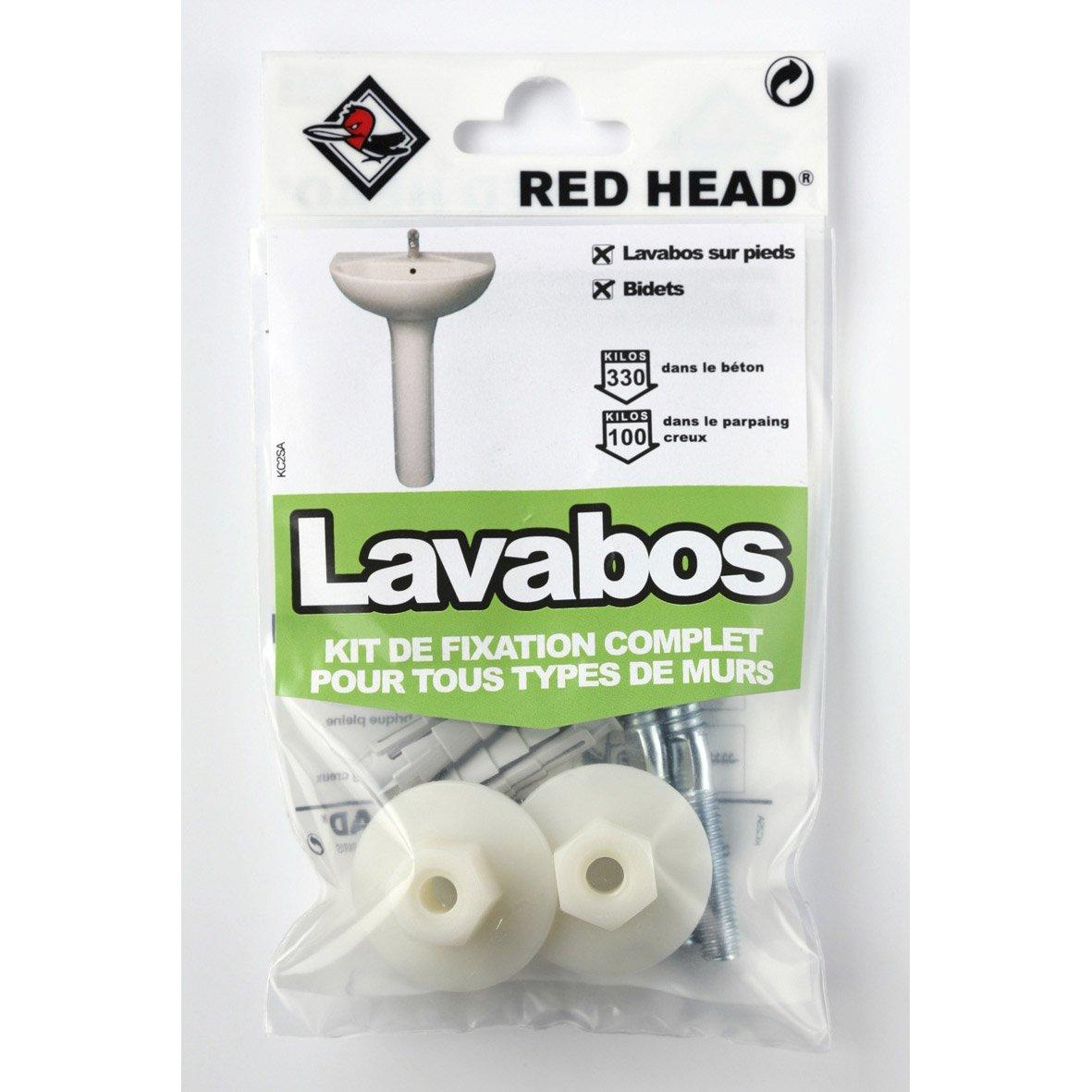 kit chevilles expansion lavabo red head x. Black Bedroom Furniture Sets. Home Design Ideas