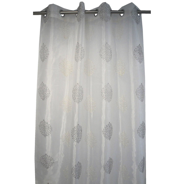 voilage transparent india taupe x cm leroy merlin. Black Bedroom Furniture Sets. Home Design Ideas