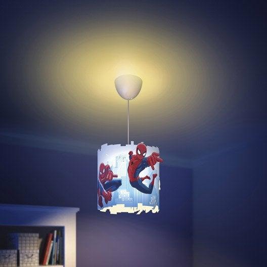 Suspension, e27 enfant Spiderman synthétique multicolore 1 x 60 W PHILIPS