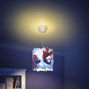 Suspension, e27 enfant Spiderman synthétique multicolore 1 x 60 W PHILIPS