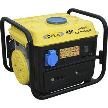 Groupe électrogène essence de chantier DEFITEC Def 950, 650 W