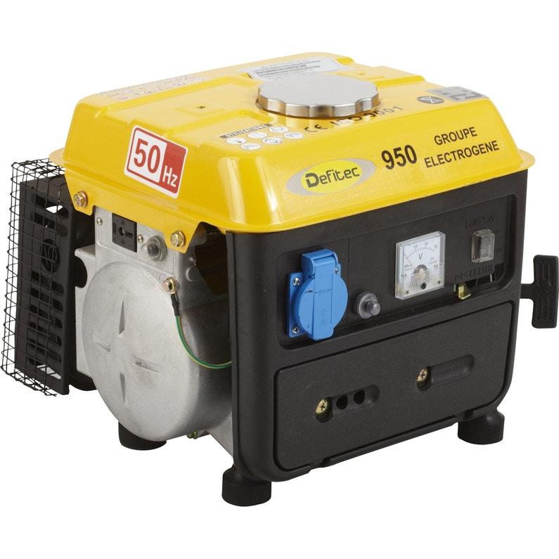 Groupe électrogène essence de chantier DEFITEC Def 950, 650 W ... ef0ab67426e5