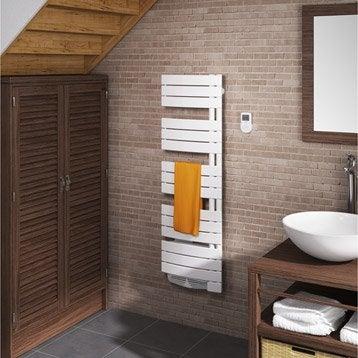 Sèche-serviettes électrique à inertie fluide SAUTER Venise slim classique 500 W