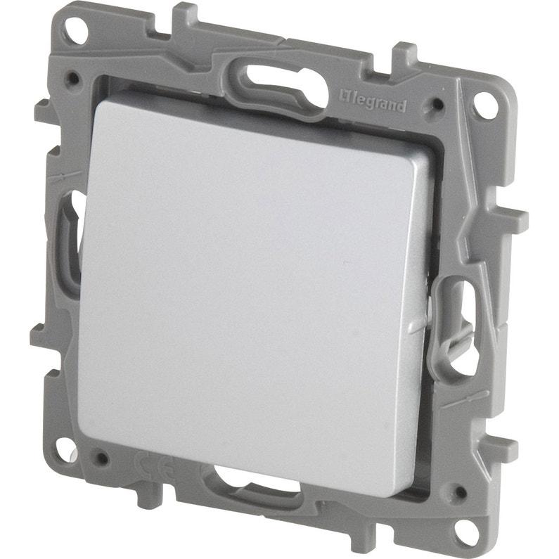 Interrupteur Va Et Vient Niloé Legrand Gris Aluminium