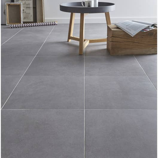 carrelage sol gris effet b ton madison x cm leroy merlin. Black Bedroom Furniture Sets. Home Design Ideas