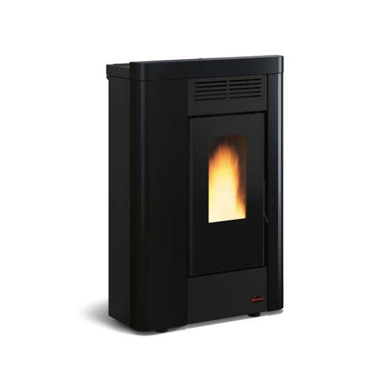 po le granul s extraflame annabella noir 8 kw leroy merlin. Black Bedroom Furniture Sets. Home Design Ideas