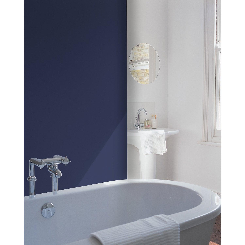Salle de bain bleue avec baignoire   Leroy Merlin