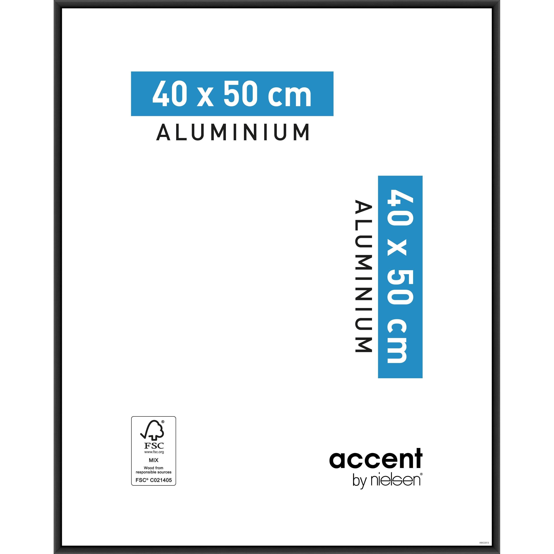 Cadre Accent, 40 x 50 cm, noir