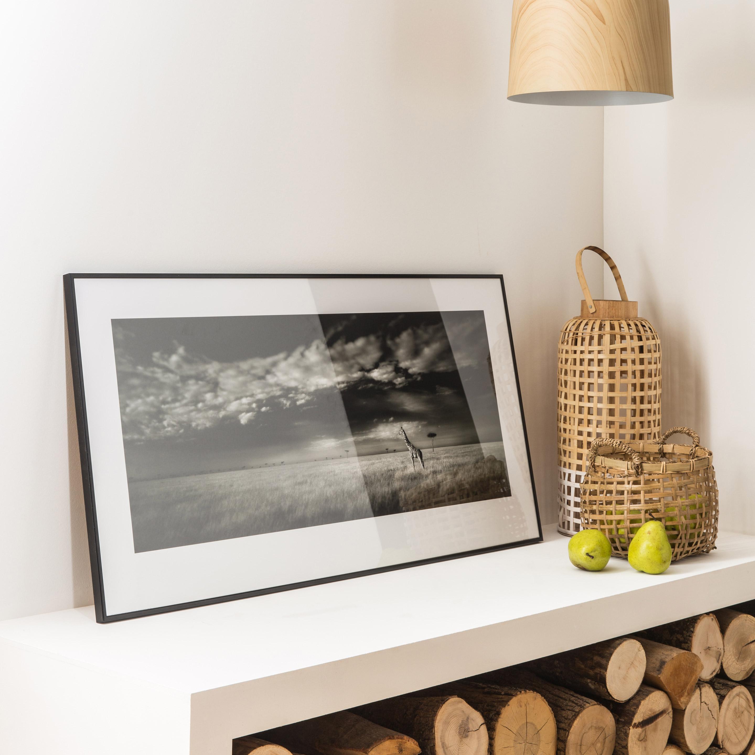 Or Brossé Effet Cadre Photo avec Noir Mount-Choisir Taille