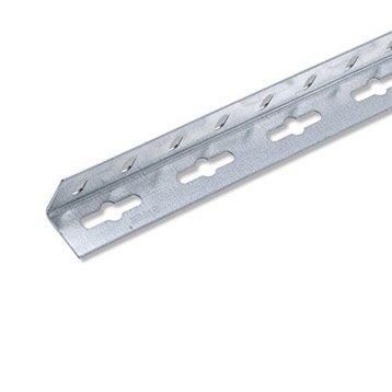 Cornière égale acier zingué, L.2.5 m x l.2.35 cm x H.2.35 cm