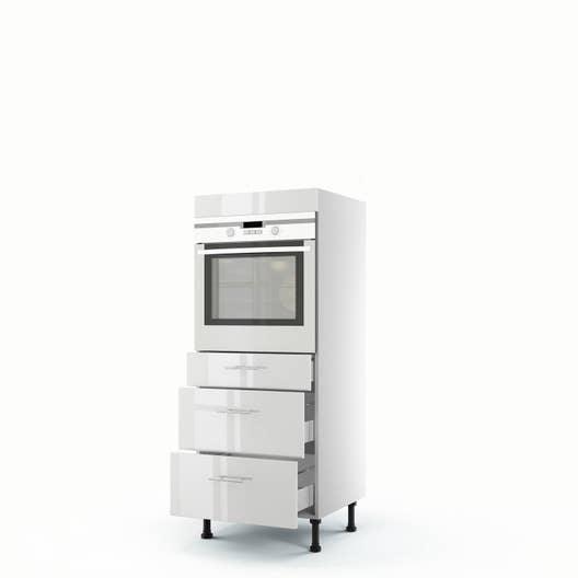meuble de cuisine demi colonne blanc four 3 tiroirs rio x x cm leroy merlin. Black Bedroom Furniture Sets. Home Design Ideas