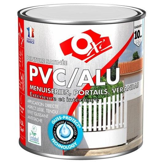 Peinture pvc aluminium galva ext rieur oxy oxytol blanc 0 5 l leroy merlin for Peinture pvc exterieur ral