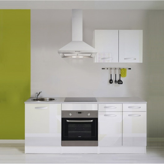 Meuble Cuisine Laqué Blanc meuble de cuisine blanc brillant | leroy merlin
