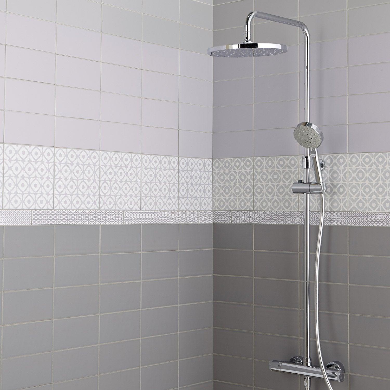 fa ence mur gris galet astuce x cm leroy merlin. Black Bedroom Furniture Sets. Home Design Ideas