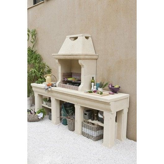 barbecue en b ton beige touraine x x. Black Bedroom Furniture Sets. Home Design Ideas
