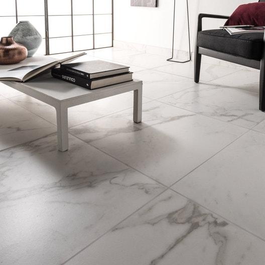 carrelage sol et mur blanc carare effet marbre murano x cm leroy merlin. Black Bedroom Furniture Sets. Home Design Ideas