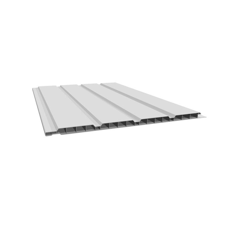 Site officiel nouvelles variétés grande variété de modèles Sous face de bandeau de rive blanc pvc L.3 m x l.250 mm