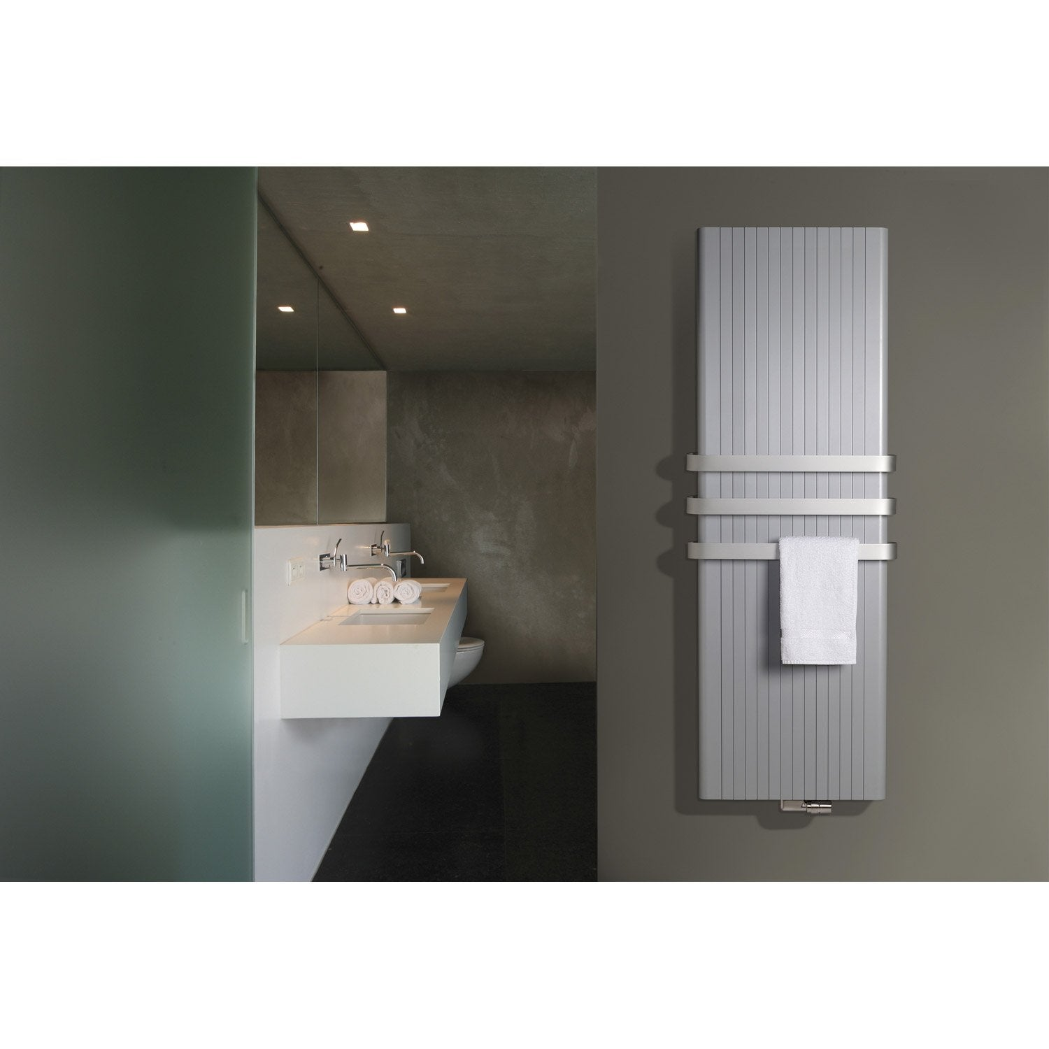 radiateur chauffage central aluzen blanc cm 2046 w leroy merlin. Black Bedroom Furniture Sets. Home Design Ideas