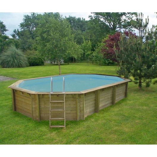 piscine bois weva octo+ 640 - hauteur 1 46m
