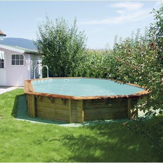 Piscine piscine hors sol bois gonflable tubulaire for Piscine octogonale bois 3 50