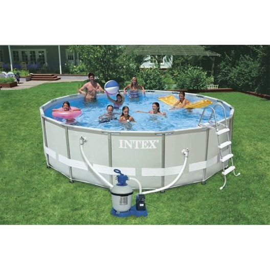 Piscine hors sol autoportante tubulaire ultra frame intex for Piscine intex ultra frame 4 88x1 22