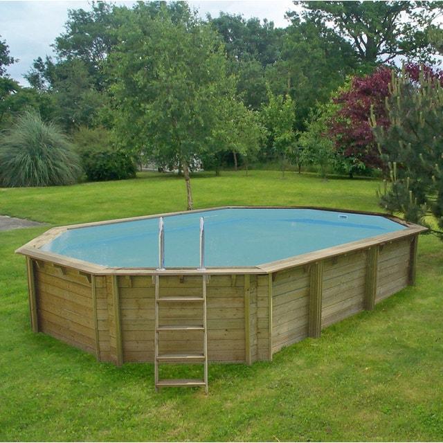Frais Une piscine semi-enterrée en bois | Leroy Merlin WL93