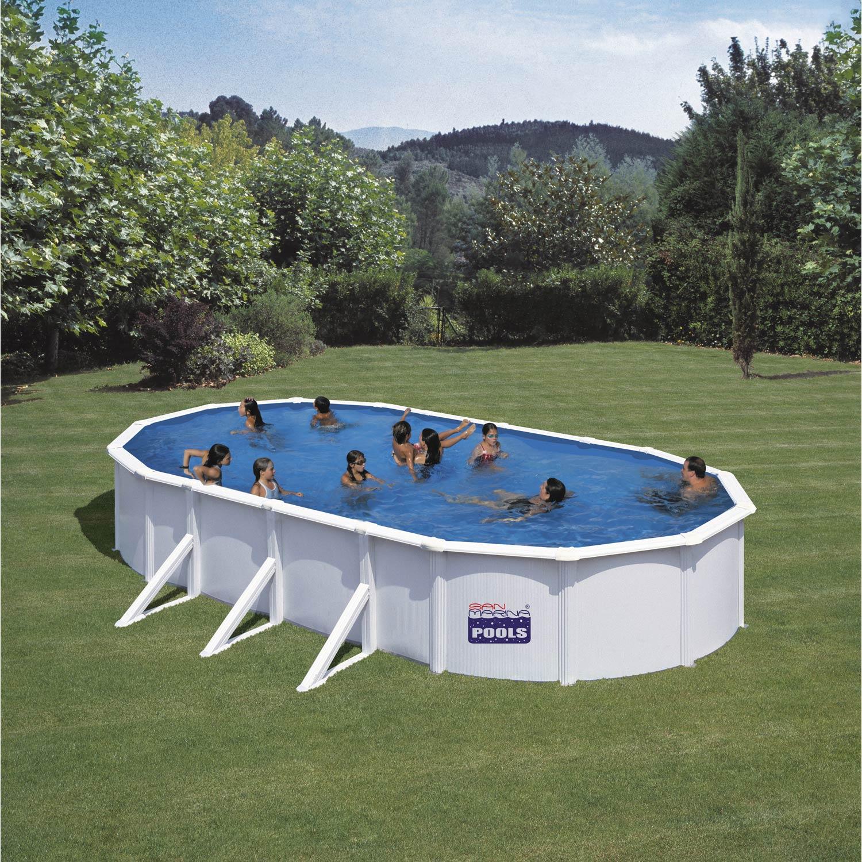 piscine hors sol acier san clara gre l x l x h 1 2 m leroy merlin. Black Bedroom Furniture Sets. Home Design Ideas