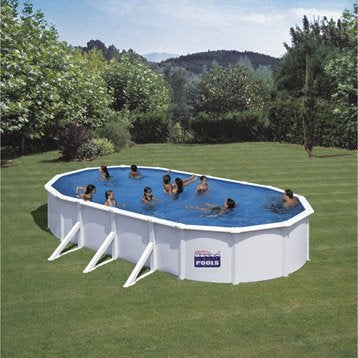 Piscine piscine hors sol bois gonflable tubulaire for Piscine en bois semi enterree leroy merlin