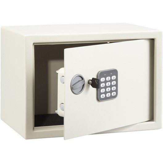 coffre fort code sft 25enp h25 x l35 x p25 cm leroy merlin. Black Bedroom Furniture Sets. Home Design Ideas