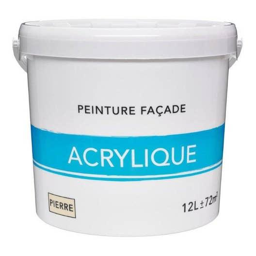Peinture façade Acrylique, ton pierre, 12 l | Leroy Merlin