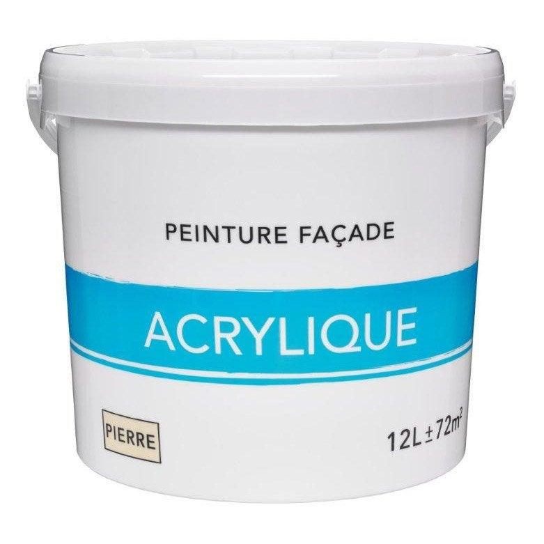 Superieur Peinture Façade Acrylique, Ton Pierre, 12 L