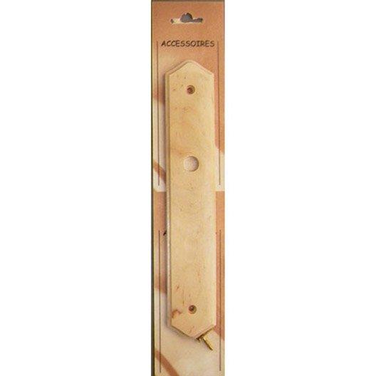 plaque de propret bois brut x l 4 4 x cm leroy merlin. Black Bedroom Furniture Sets. Home Design Ideas