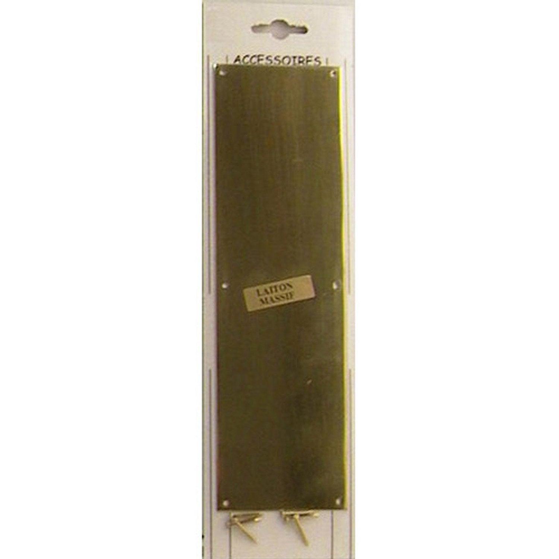 Plaque De Propreté Laiton Laitonné X L X H Cm Leroy Merlin - Plaque de propreté porte
