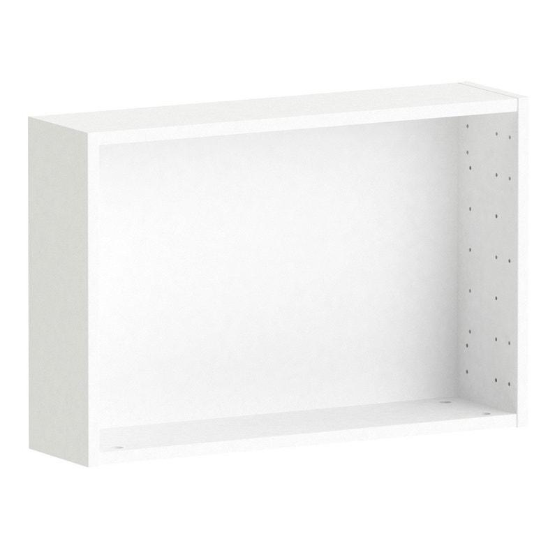Caisson SPACEO Home 40 x 60 x 15 cm, blanc   Leroy Merlin ba1ce0813f4d