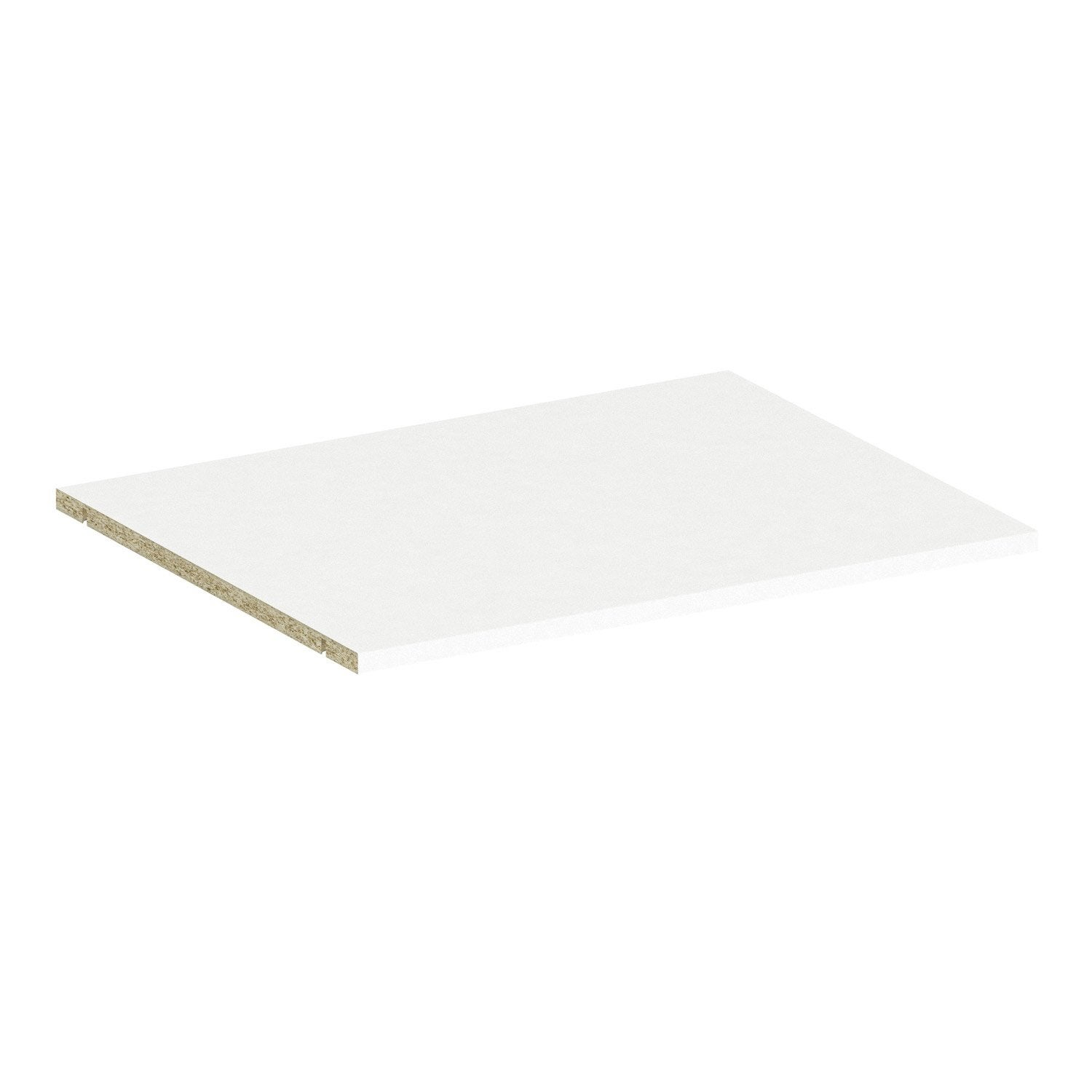 Tablette SPACEO Home 1.6 x 60 x 45 cm, blanc | Leroy Merlin