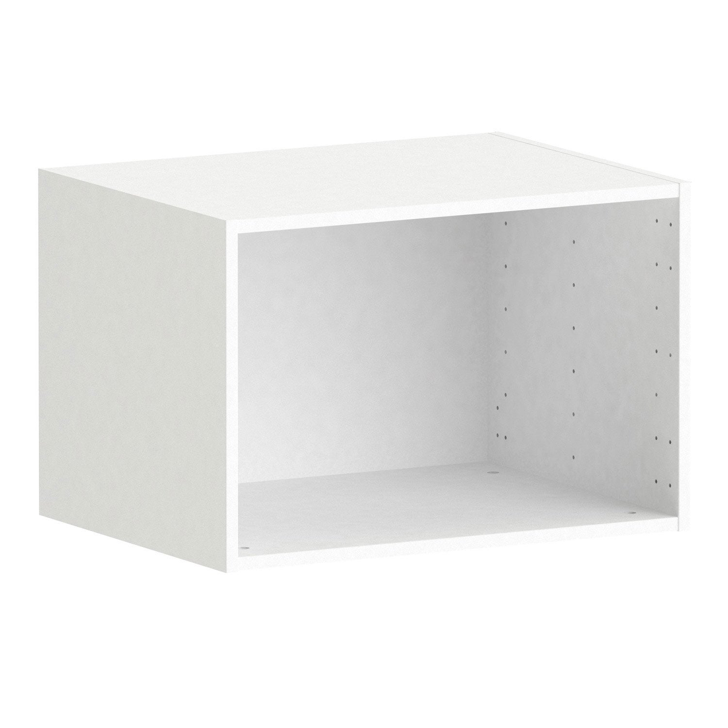 caisson spaceo home 40 x 60 x 45 cm blanc leroy merlin. Black Bedroom Furniture Sets. Home Design Ideas