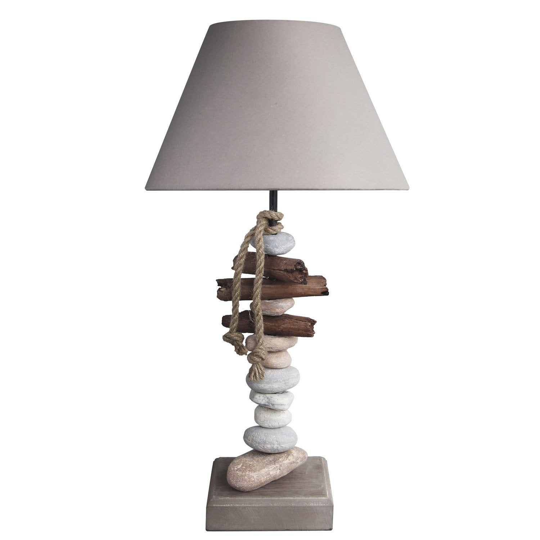 Lampe, e27 Benodet SEYNAVE, coton naturel, 60 W