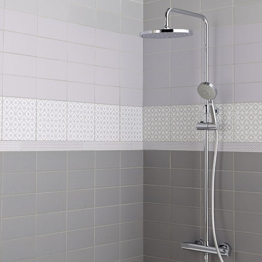 Fa ence mur violet aubergine astuce x cm - Leroy merlin faience salle de bain ...