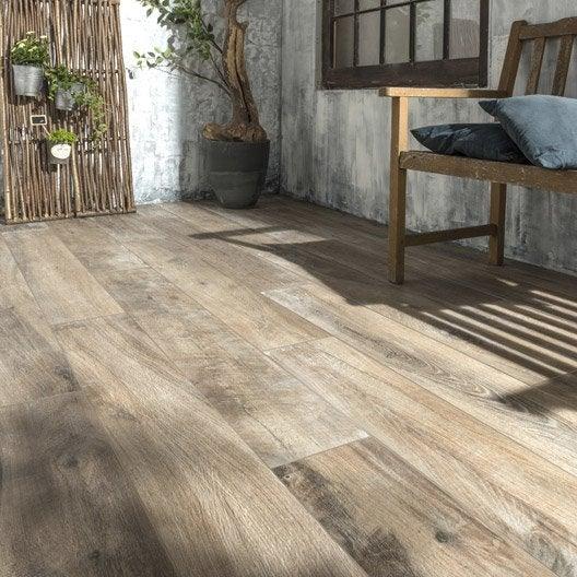 Carrelage brun foncé effet bois Heritage l.20 x L.120 cm | Leroy Merlin